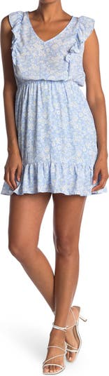 Мини-платье без рукавов с цветочным принтом и оборками Collective Concepts