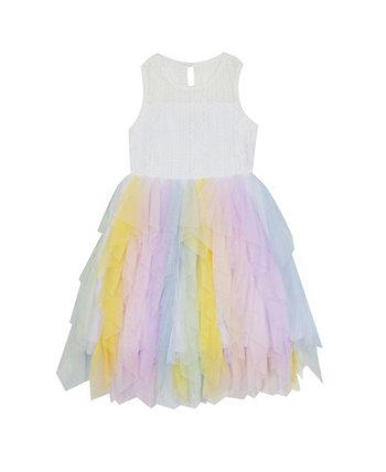 Кружевное и каскадное платье для маленьких девочек Rare Editions