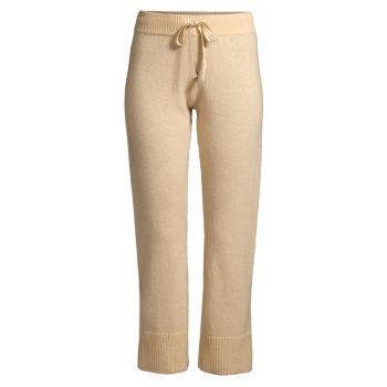 Cashmere Ribbed Cuff Pants Minnie Rose