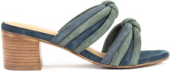 Rubie Suede Knotted Slip-On Heeled Sandal Crevo