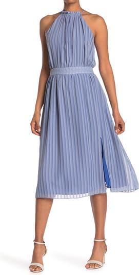 Миди-платье с вырезом на шее ONE ONE SIX