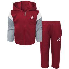 Toddler Crimson Alabama Crimson Tide Fleece Full-Zip Hoodie and Pants Set Outerstuff