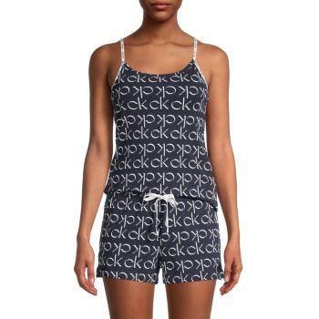 2-Piece Star Stretch Shorty Pajama Set Calvin Klein