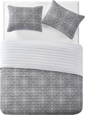 """Комплект стеганого одеяла Tahari Lolan из 3 частей - 90 """"x 92"""" - Полный / Королева VCNY HOME"""