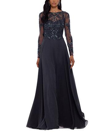 Украшенное шифоновое платье XSCAPE