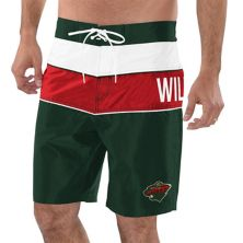 Men's G-III Sports by Carl Banks Green/Red Minnesota Wild All-Star Swim Trunks G-III