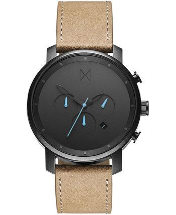 Мужские часы с кожаным ремешком Chrono Sandstone 45 мм MVMT