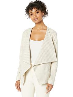 Льняная драпированная куртка в тонкую полоску спереди Blank NYC