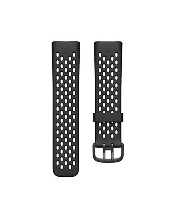 Charge 5 Black Silicone Sport Band, Large Fitbit