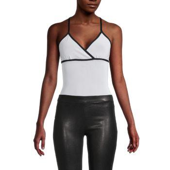 Plie Bodysuit Blanc Noir