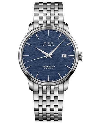 Мужские швейцарские автоматические часы-браслет из нержавеющей стали Baroncelli 40мм MIDO