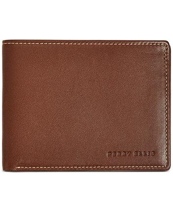 Мужской кожаный кошелек Perry Ellis Portfolio