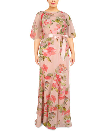 Платье больших размеров с хомутом Adrianna Papell