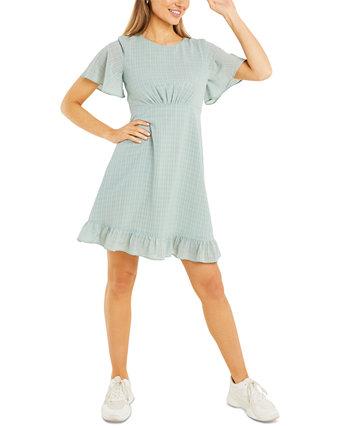 Платье трапециевидной формы с рукавами-крылышками Quiz