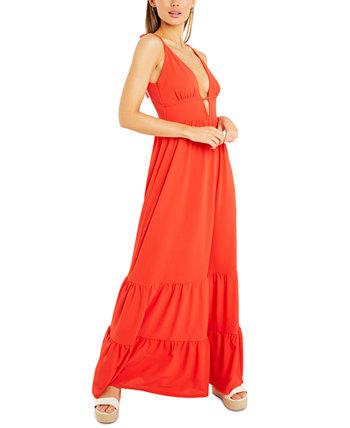 Макси-платье с глубоким вырезом Quiz
