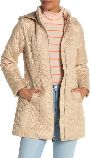 Стеганая куртка со съемным капюшоном зигзаг Via Spiga