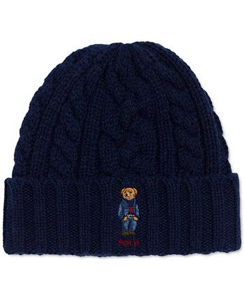 Мужская шапка с медведем из переработанного троса Ralph Lauren