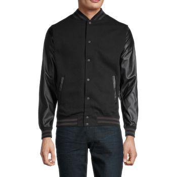 Куртка в стиле милитари с рукавами из искусственной кожи KINETIX