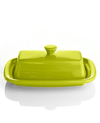 Lemongrass XL Covered Butter Dish FIESTA