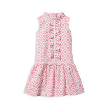 Маленькая девочка & amp; Платье из понте с геометрическим рисунком и цветочным узором для девочек Janie and Jack