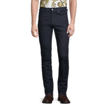 Stretch Straight Jeans Versace Collection