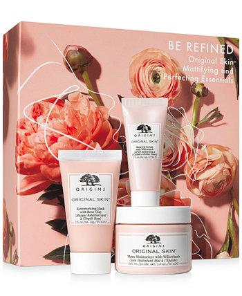 3-шт. Ограниченный выпуск Be Refined Original Skin Mattifying & Perfecting Essentials Gift Set Origins
