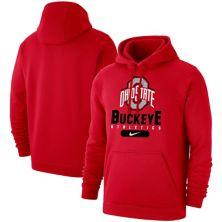 Men's Nike Scarlet Ohio State Buckeyes Big & Tall Club Stack Fleece Pullover Hoodie Nike