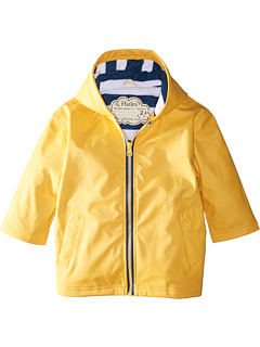 Желтая с темно-синей полосатой подкладкой Splash Jacket (для малышей / маленьких детей / больших детей) Hatley Kids