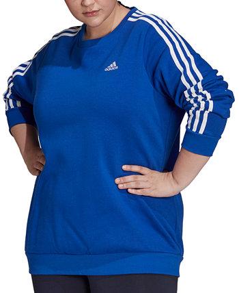 Толстовка из флиса с 3 полосками больших размеров Essentials Adidas