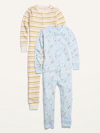 Комплект из двух сплошных пижам с принтом унисекс для малышей Old Navy