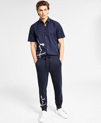 Мужские брюки-джоггеры Boss с логотипом Script, созданные для Macy's HUGO
