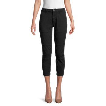 Укороченные брюки из смесового хлопка Current/Elliott