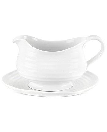 Столовая посуда, Софи Конран, белый соусник и подставка Portmeirion