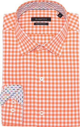 Классическая рубашка в клетку с отделкой BUGATCHI