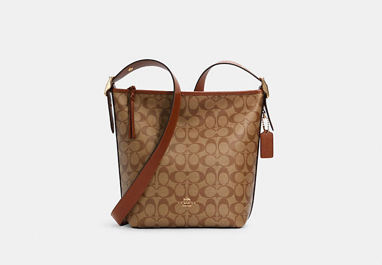 val duffle in signature canvas COACH
