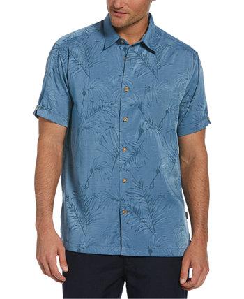 Мужская жаккардовая рубашка с цветочным принтом Big & Tall Cubavera