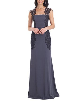 Атласное платье русалки с кружевной отделкой JS Collections