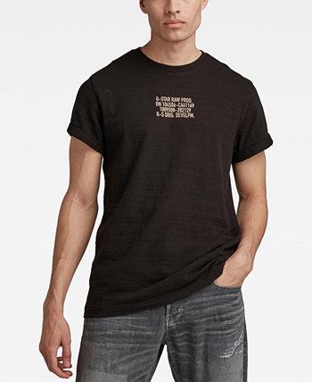 Мужская футболка с надписью Chest Text Graphic G-Star