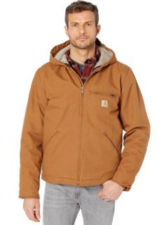 OJ392 Куртка с капюшоном на подкладке из шерпы с потертой уткой Carhartt