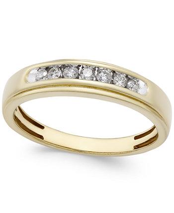 Мужская бриллиантовая повязка (1/4 карат. Вес.) В 10-каратном золоте Macy's