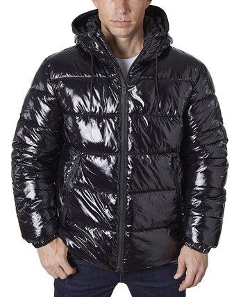 Модная мужская куртка-пуховик с блестками Perry Ellis