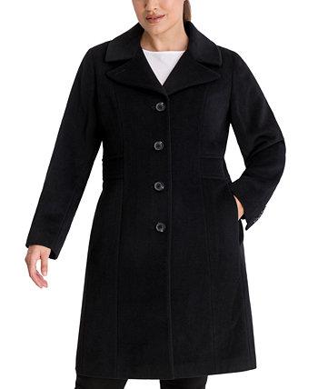 Однобортное пальто Walker больших размеров, созданное для Macy's Anne Klein