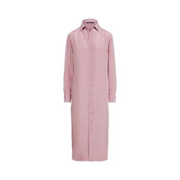 Graison Silk-Blend Marocain Day Dress Ralph Lauren