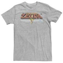 Big & Tall Nintendo Zelda Classic NES 8bit Title Screen Tee Nintendo