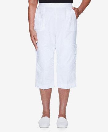 Женские брюки-капри с прозрачной пленкой Missy Island Hopping Alfred Dunner