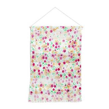 """Настенный портрет Joy Laforme Sun с выцветшими розовыми цветами, 22 """"x32"""" Deny Designs"""