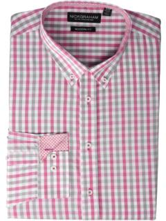 Классическая рубашка с пряжей в клетку с принтом в клетку Nick Graham