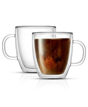 Набор кофейных кружек с двойными стенками Savor, 2 шт. JoyJolt