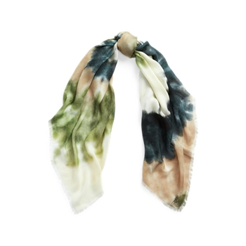 Размер спирального шарфа с принтом тай-дай Ralph Lauren