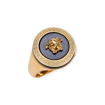 Round Medusa Ring Versace
